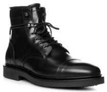 Herren Schuhe Stiefeletten, Rindleder, schwarz