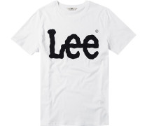Herren T-Shirt Baumwolle weiß