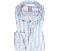 Hemd Slim Fit Baumwolle -blau gemustert