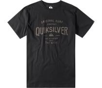 Herren T-Shirt Baumwolle schwarz gemustert