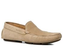Herren Schuhe Loafers Veloursleder beige