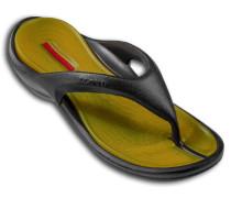 Herren Schuhe BEACH Gummi schwarz-gelb