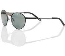 Herren Brillen Sonnenbrille, Metall, grau-schwarz