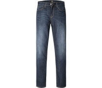 Herren Jeans Regular Fit Baumwoll-Stretch dunkelblau
