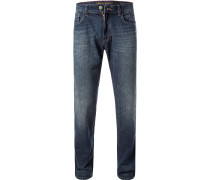 Jeans Straight Fit Baumwoll-Stretch denim