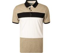 Polo-Shirt Baumwoll-Piqué  gestreift