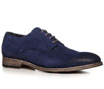 Schuhe Derby Veloursleder azzurro