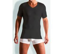 Herren T-Shirt, Baumwoll-Stretch, schwarz