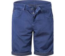 Herren Jeans Bermudas Regular Fit Baumwoll-Stretch indigo