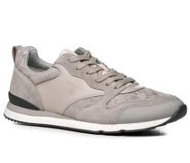 Herren Schuhe Sneaker, Leder-Textil, taupe grau