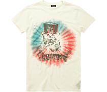 Herren T-Shirt, Baumwolle, creme weiß