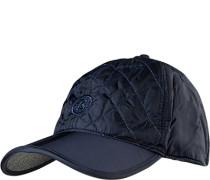 Herren Cap, Microfaser wattiert, navy blau