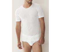 Herren T-Shirt Seide weiß oder