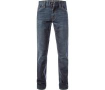Herren Jeans, Baumwoll-Denim, indigo blau
