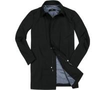 Herren Mantel Baumwolle wasserabweisend schwarz schwarz,blau