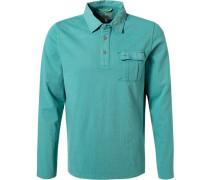 Polo-Shirt Baumwoll-Jersey türkis