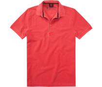 Herren Polo-Shirt, Baumwoll-Piqué, erdbeerrot