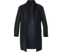 Herren Mantel Wolle ungefüttert nachtblau