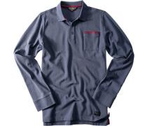 Herren Polo-Shirt Baumwoll-Piqué blau