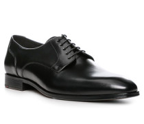 Herren Schuhe Derby, Rindleder, schwarz