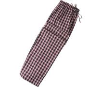 Herren Pyjama-Hose Baumwolle navy-rot kariert blau,blau