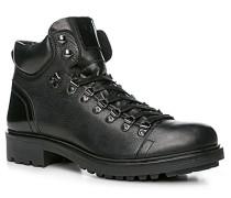 Herren Schuhe Stiefeletten Rindleder schwarz schwarz,schwarz