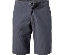 Hose Shorts Baumwolle anthrazit