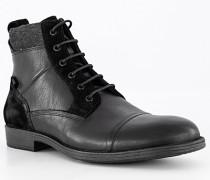 Schuhe Boots mit Reißverschluss Leder