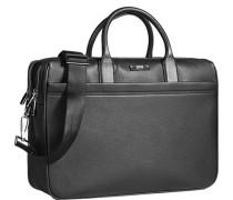 Herren Businesstasche, Rindleder, schwarz