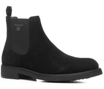 Herren Schuhe Chelsea Boots Veloursleder schwarz schwarz,beige