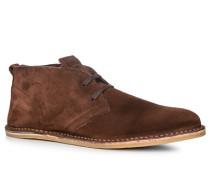 Herren Schuhe Stiefeletten Leder braun
