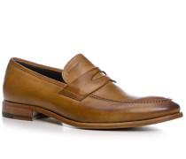 Herren Schuhe Loafer Kalbleder glatt cuoio