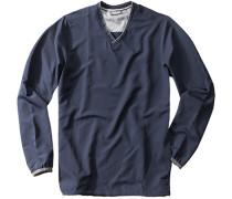 Herren V-Pullover Polyester marine blau