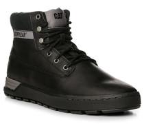 Herren Schuhe Schnürstiefel Leder schwarz
