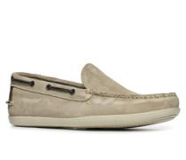 Herren Schuhe Slipper Veloursleder grau