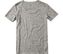 Herren T-Shirt Baumwolle grau meliert
