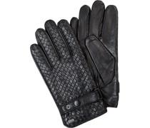 Herren Handschuhe, Ziegenleder, schwarz
