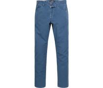 Herren Jeans, Baumwolle-Leinen, blau