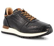 Schuhe Sneaker Leder nero