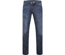 Herren Jeans Slim Fit Baumwoll-Stretch blau