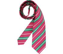 Herren Krawatte  grün,rosa,weiß