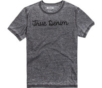 Herren T-Shirt Baumwoll-Mix meliert