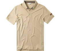 Herren Polo-Shirt Microfaser-Piqué camel