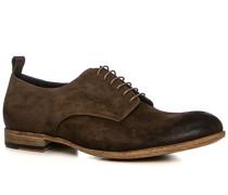 Herren Schuhe Derby Veloursleder bruno braun,beige,rot