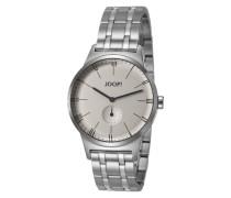 Herren Uhren Uhr, Edelstahl, silber metallic grau