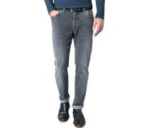 Herren Jeans, Modern Fit, Baumwoll-Stretch SUPERFLEX, anthrazit grau