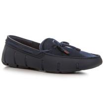 Herren Schuhe Loafer, Kautschuk, dunkelblau