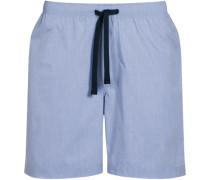 Herren Schlafanzug Pyjamashorts, Baumwolle, bleu blau
