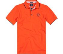 Herren Polo-Shirt, Baumwoll-Piqué, orange