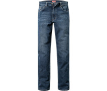 Herren Jeans, Denimstretch, dunkelblau